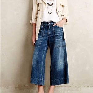 Anthropologie Cropped Flare Jeans💙